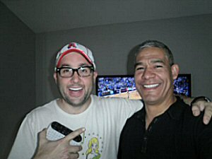 actor P.J. Byrne and Brian Cardenas