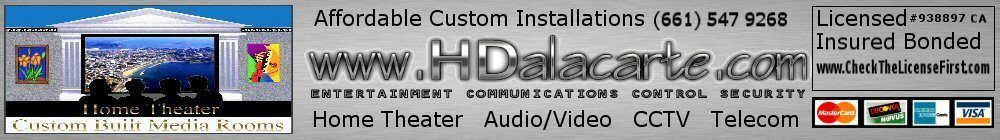 Home Theater installation contractor integrator and TV installer Los Angeles